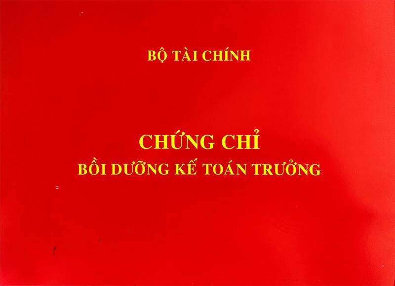 Chứng chỉ kế toán trưởng do Hội kế toán và kiểm toán Việt Nam cấp