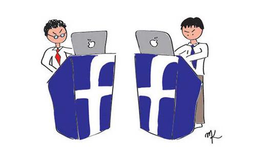 tranh cãi trên mạng xã hội