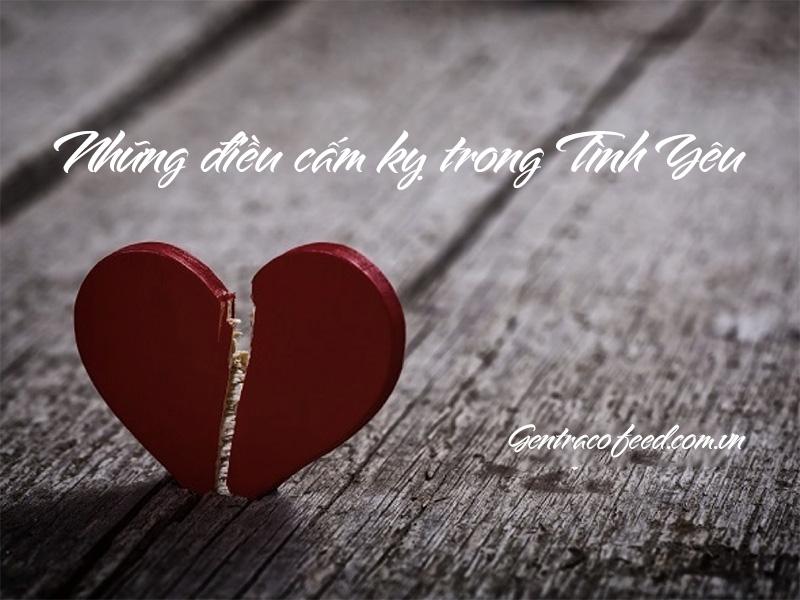 Những điều cấm kỵ trong tình yêu