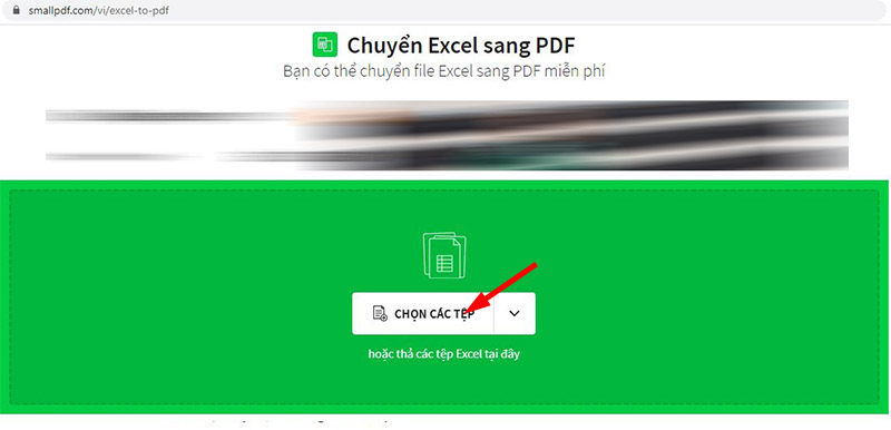 Cách chuyển Excel sang Pdf Online