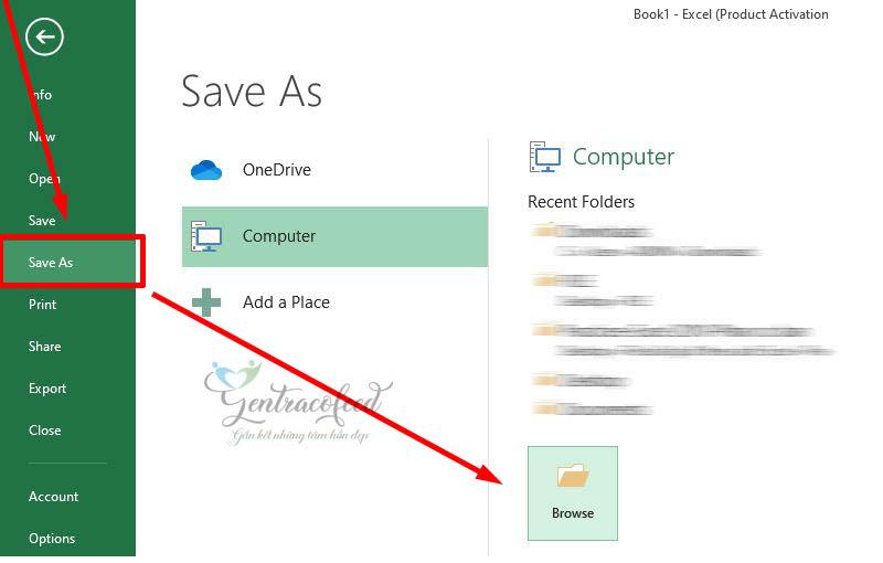 Chuyển từ Excel sang PDF