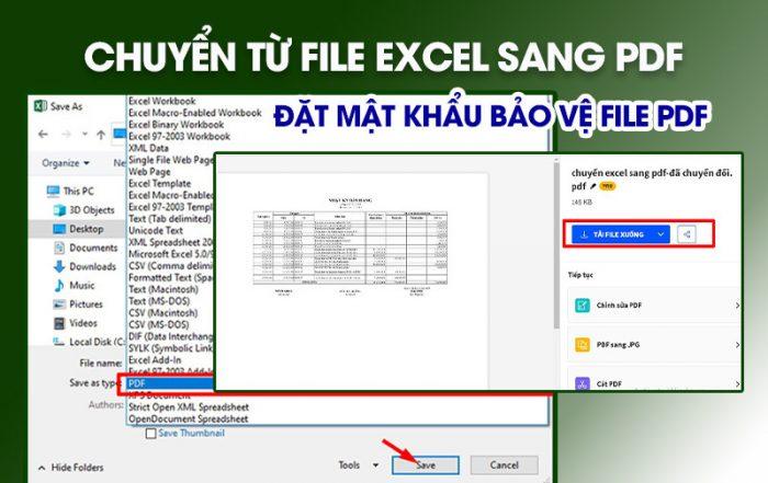 Hướng dẫn chuyển Excel sang Pdf